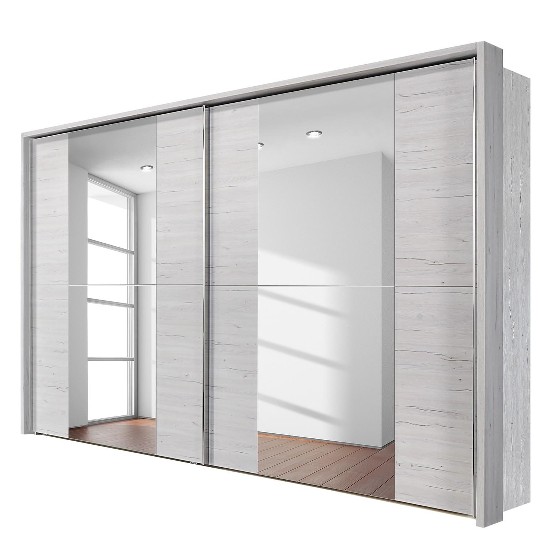 schwebet renschrank madrid wei eiche dekor 300 cm 2 t rig mit passepartoutrahmen. Black Bedroom Furniture Sets. Home Design Ideas