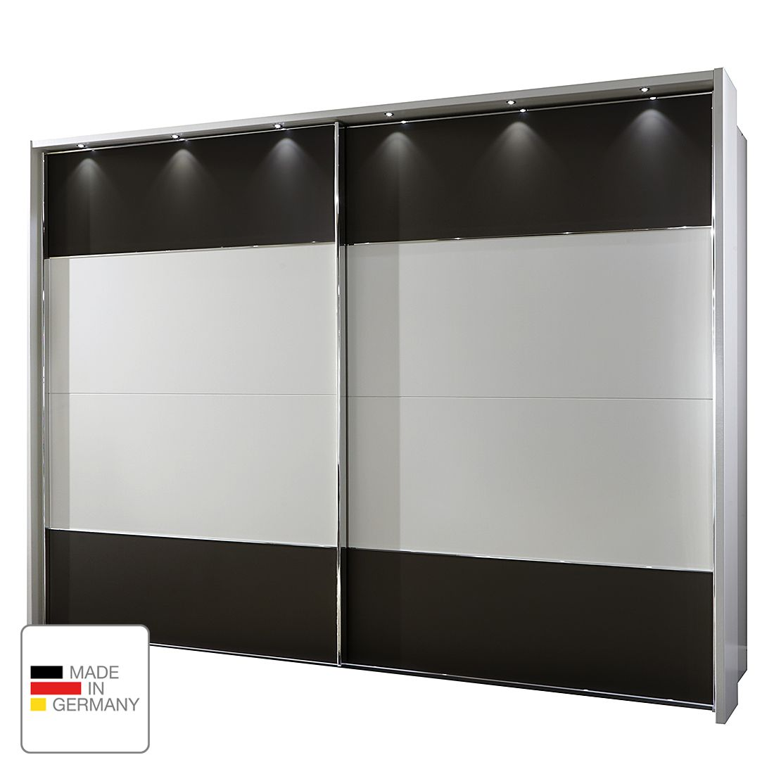 schwebet renschrank monza alpinwei havanna led. Black Bedroom Furniture Sets. Home Design Ideas