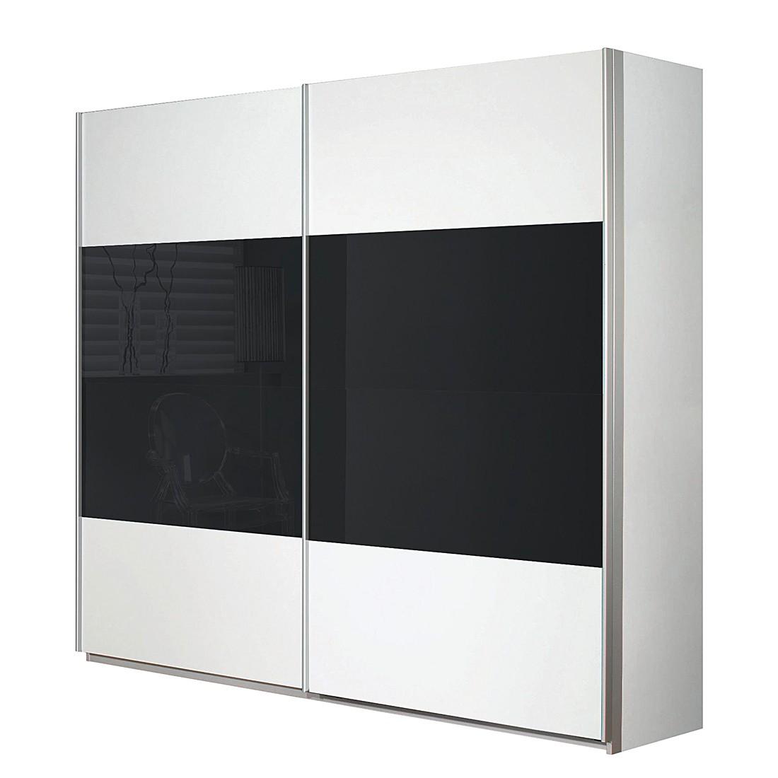 Schwebetürenschrank Quadra – Alpinweiß /Glas Basalt – Breite x Höhe: 181 x 230 cm, Rauch Pack´s günstig