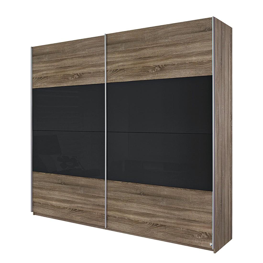 schwebet renschrank quadra eiche havanna glas basalt schrankbreite 181 cm 2 t rig. Black Bedroom Furniture Sets. Home Design Ideas