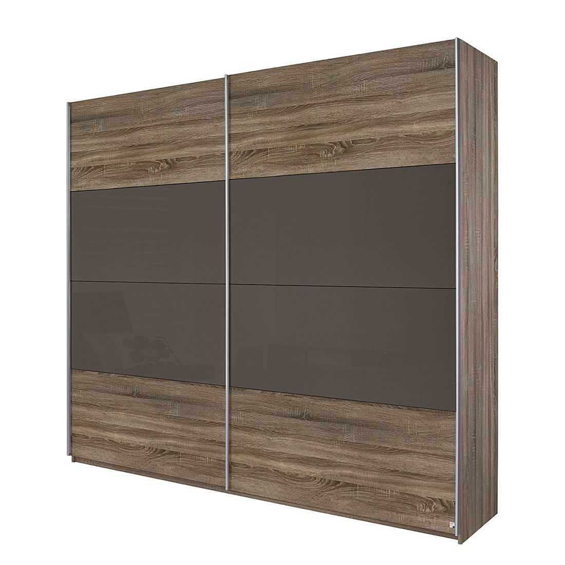 schwebet renschrank quadra eiche havanna glas lava schrankbreite 315 cm 2 t rig. Black Bedroom Furniture Sets. Home Design Ideas