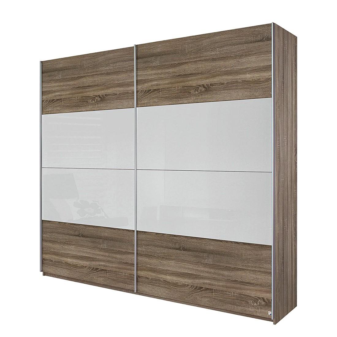 schwebet renschrank quadra eiche havanna glas wei breite x h he 181 x 210 cm rauch pack. Black Bedroom Furniture Sets. Home Design Ideas