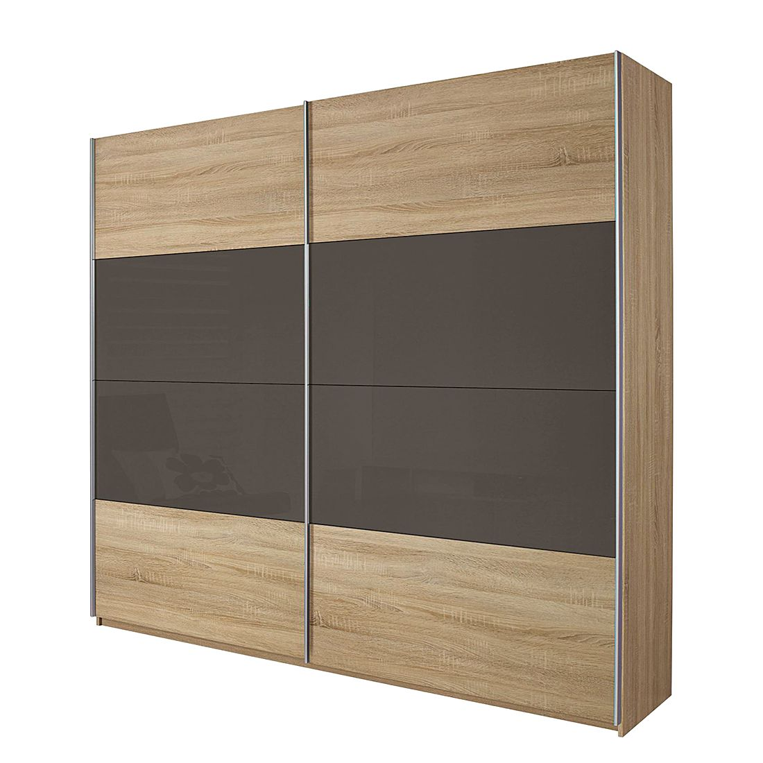 schwebet renschrank quadra eiche sonoma glas lava schrankbreite 315 cm 2 t rig schrank. Black Bedroom Furniture Sets. Home Design Ideas