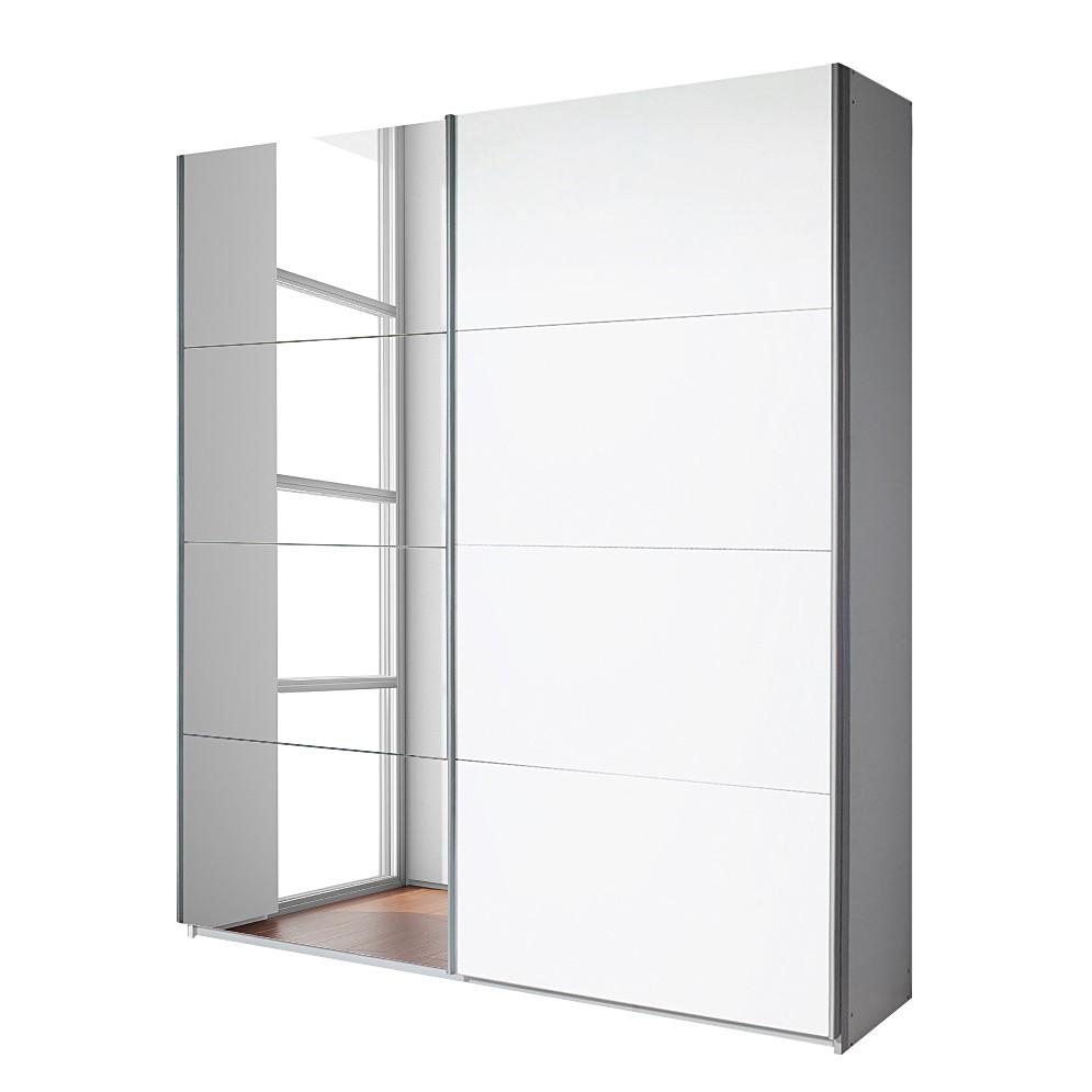 Schwebetürenschrank Quadra (mit Spiegel) – Alpinweiß – Breite x Höhe: 271 x 210 cm, Rauch Pack´s günstig bestellen
