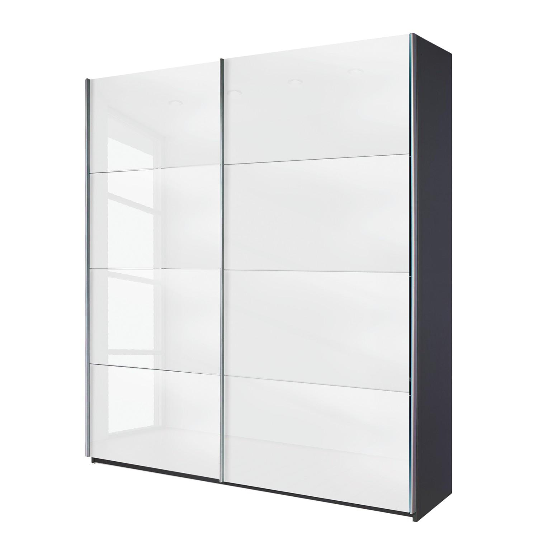 schlafzimmer quadra, schwebetürenschrank quadra (spiegel) - grau-metallic / glas weiß, Innenarchitektur
