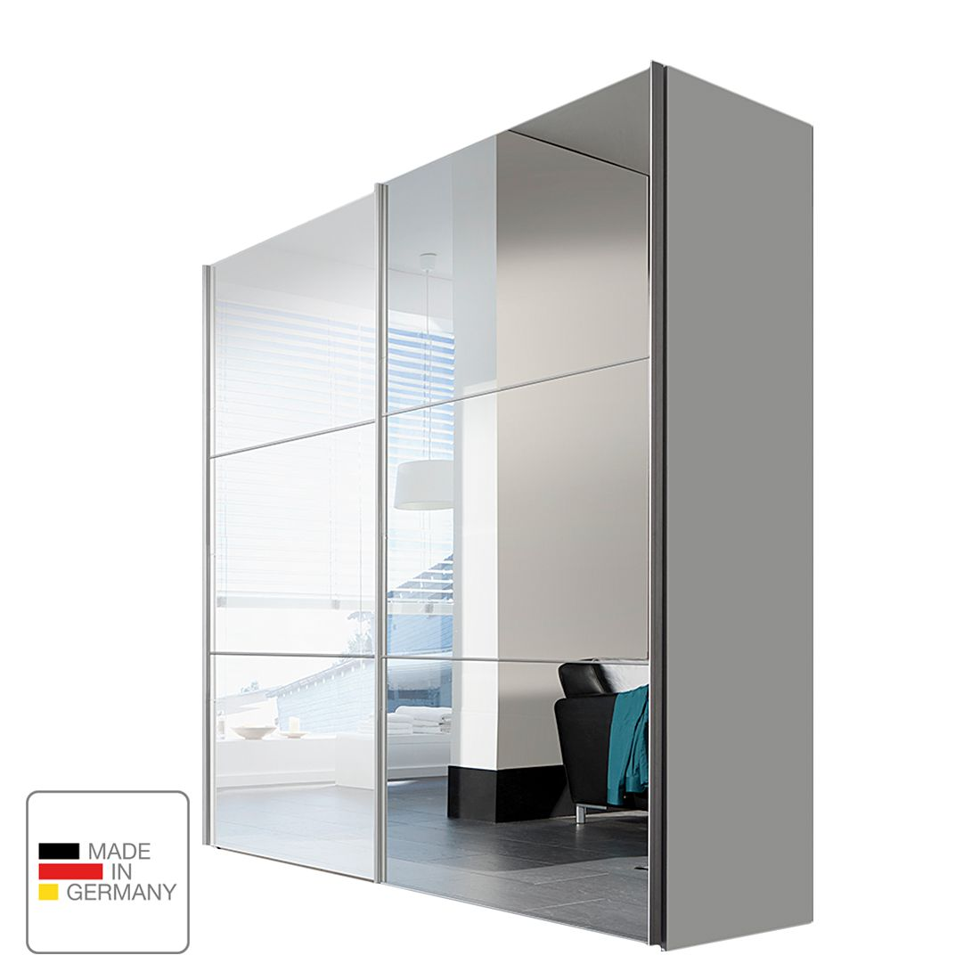 schwebet renschrank ruby mit spiegel wei solutions g nstig kaufen. Black Bedroom Furniture Sets. Home Design Ideas