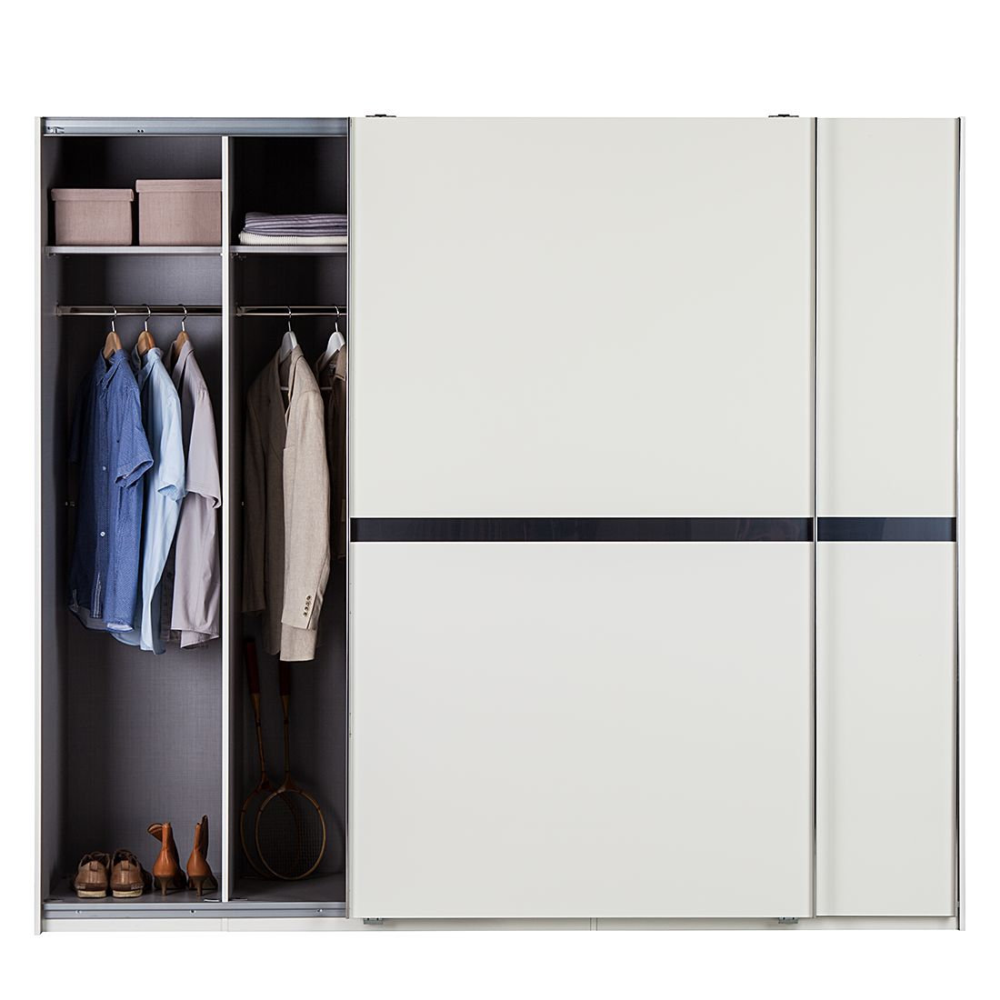 schwebet renschrank safe4 alpinwei pearlglanz softwhite schrankbreite 300 cm 2 t rig. Black Bedroom Furniture Sets. Home Design Ideas