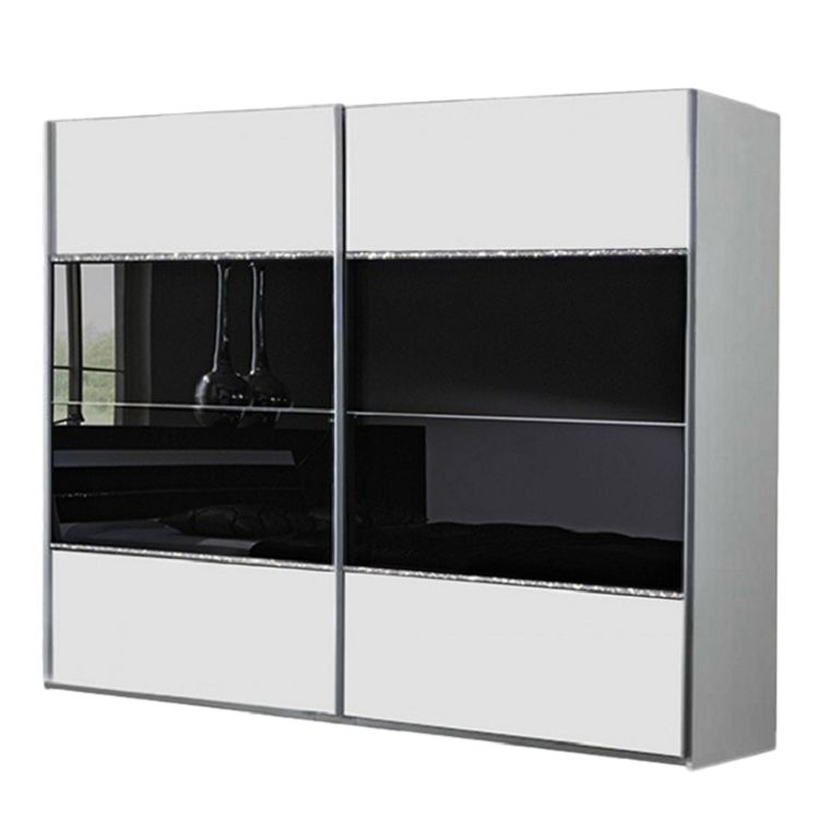 schwebet renschrank salem alpinwei glas schwarz strasskristall schrankbreite 180 cm 2. Black Bedroom Furniture Sets. Home Design Ideas