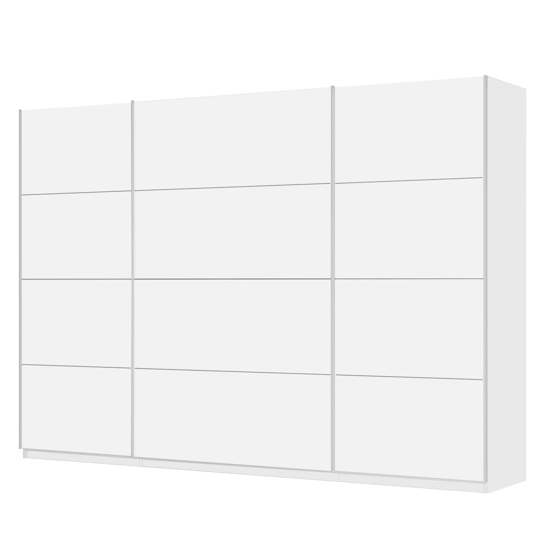 Schwebetürenschrank SKØP - Alpinweiß - 315 cm (3-türig) - 222 cm - Premium, SKØP
