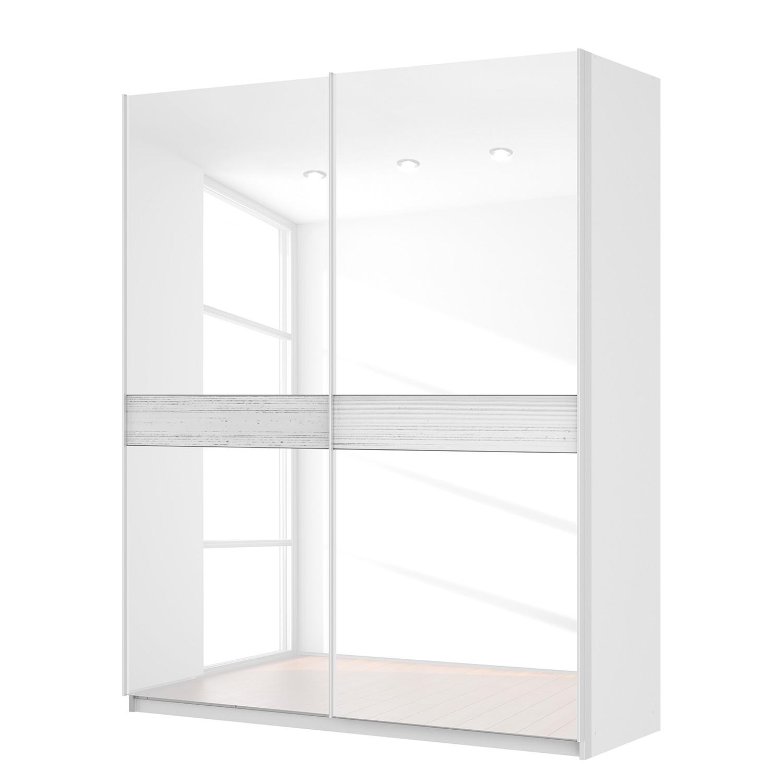 Schwebetürenschrank SKØP – Alpinweiß / Glas Weiß – 181 cm (2-türig) – 222 cm – Premium, SKØP günstig kaufen