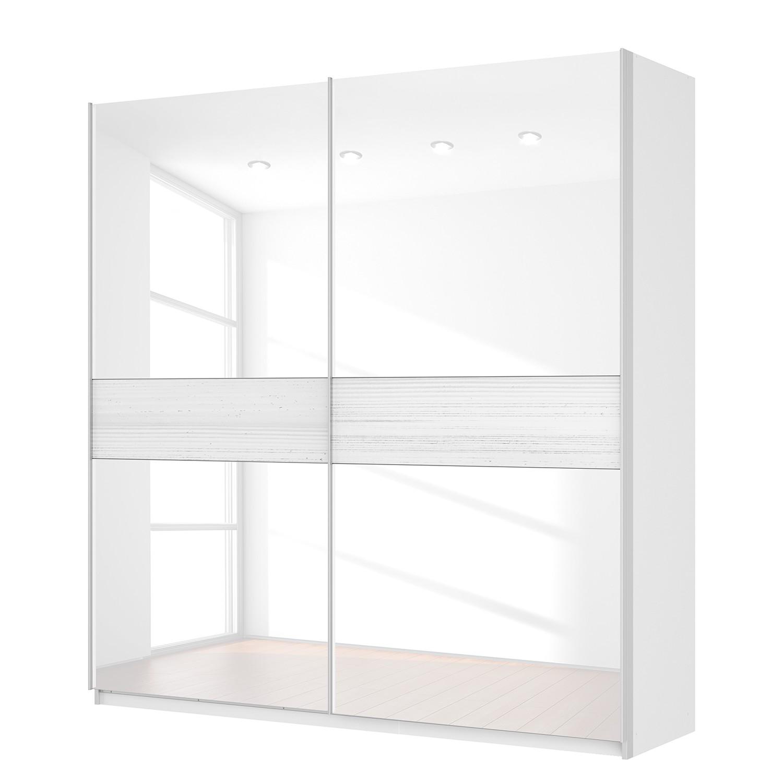 Schwebetürenschrank SKØP – Alpinweiß / Glas Weiß – 225 cm (2-türig) – 236 cm – Basic, SKØP kaufen