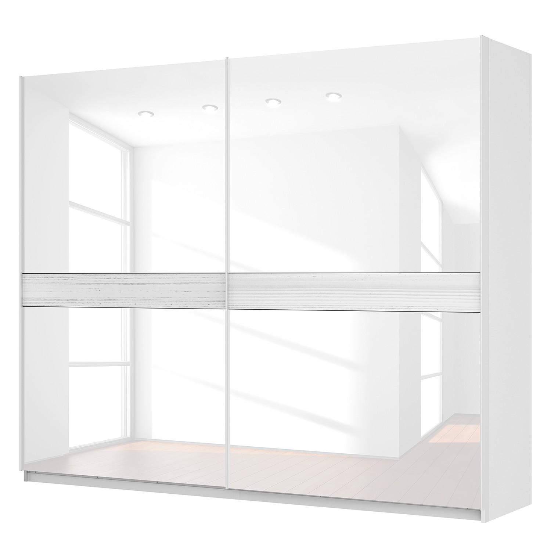 Schwebetürenschrank SKØP – Alpinweiß / Glas Weiß – 270 cm (2-türig) – 222 cm – Premium, SKØP bestellen