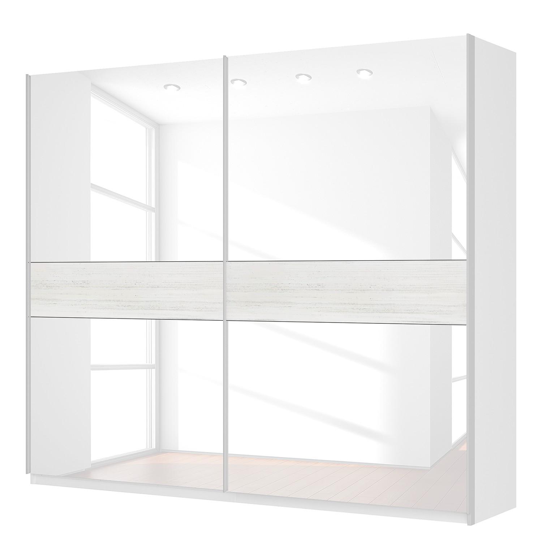 Schwebetürenschrank SKØP – Alpinweiß / Glas Weiß – 270 cm (2-türig) – 236 cm – Premium, SKØP günstig kaufen