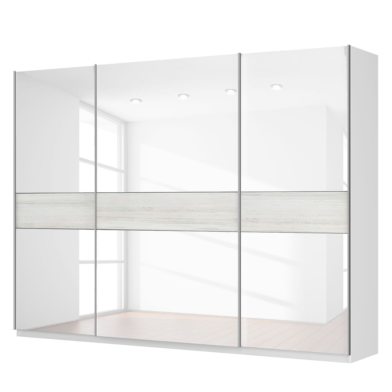 Schwebetürenschrank SKØP – Alpinweiß / Glas Weiß – 315 cm (3-türig) – 236 cm – Premium, SKØP günstig