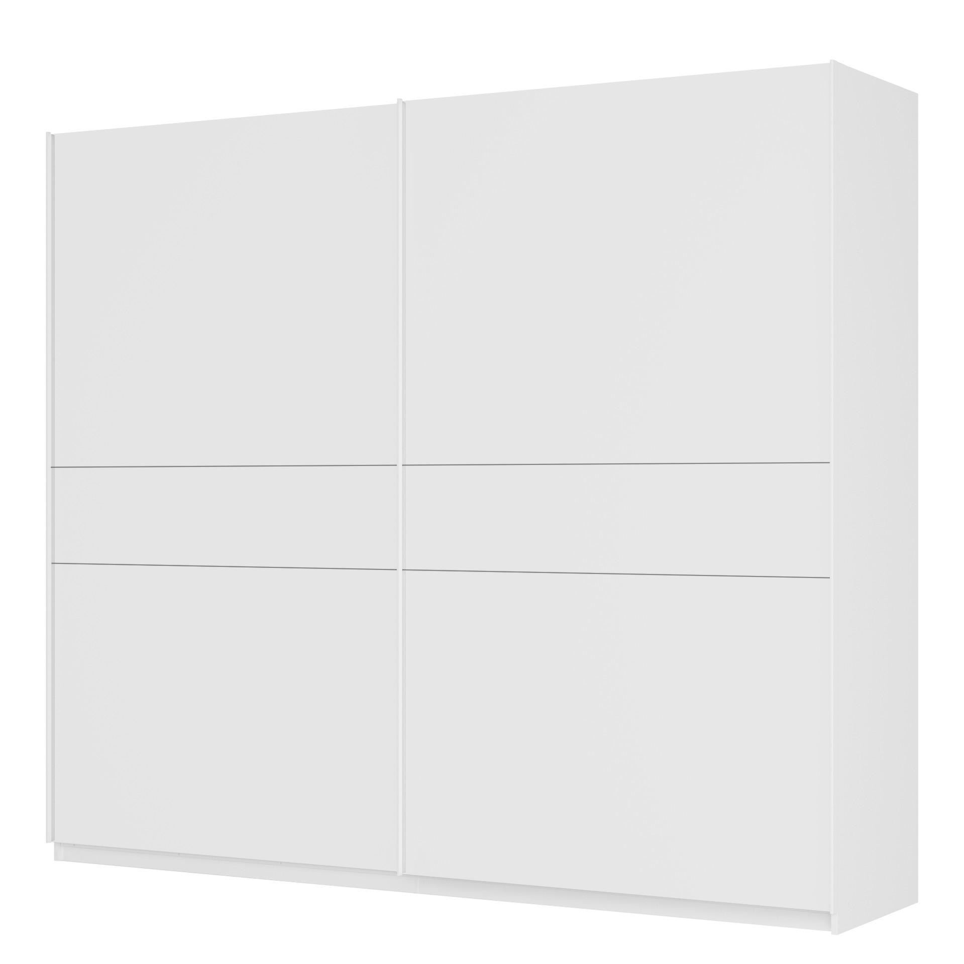 Schwebetürenschrank SKØP - Alpinweiß / Mattglas Weiß - 270 cm (2-türig) - 236 cm - Classic, SKØP