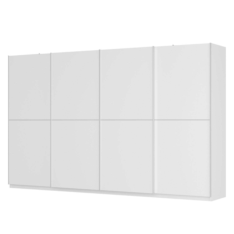 Schwebetürenschrank SKØP - Alpinweiß / Mattglas Weiß - 360 cm (4-türig) - 222 cm - Basic, SKØP