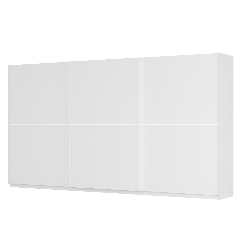 Schwebetürenschrank SKØP - Alpinweiß / Mattglas Weiß - 405 cm (3-türig) - 222 cm - Basic, SKØP