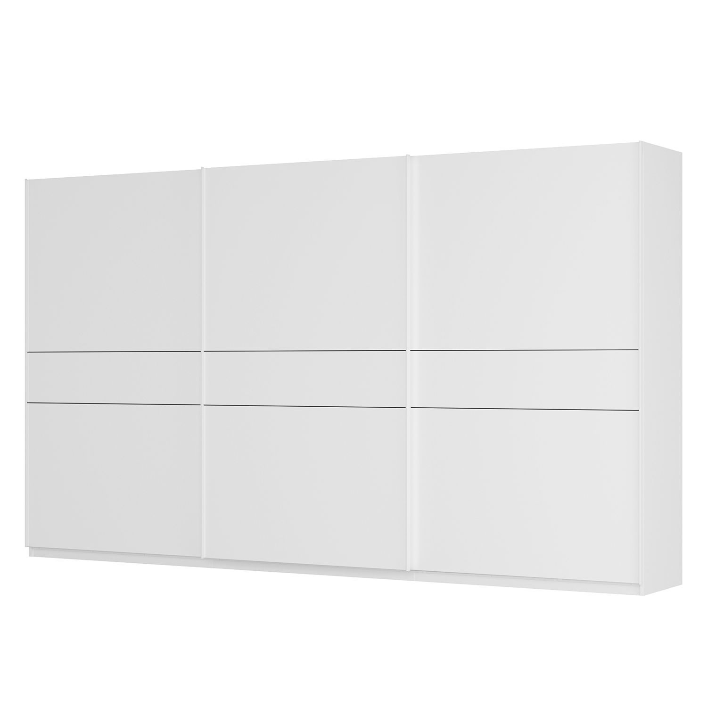 Schwebetürenschrank SKØP - Alpinweiß / Mattglas Weiß - 405 cm (3-türig) - 236 cm - Premium, SKØP