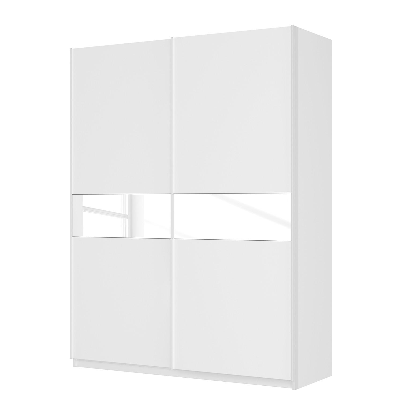 Schwebetürenschrank SKØP – Alpinweiß / Mattglas Weiß / Glas Weiß – 181 cm (2-türig) – 236 cm – Premium, SKØP günstig kaufen