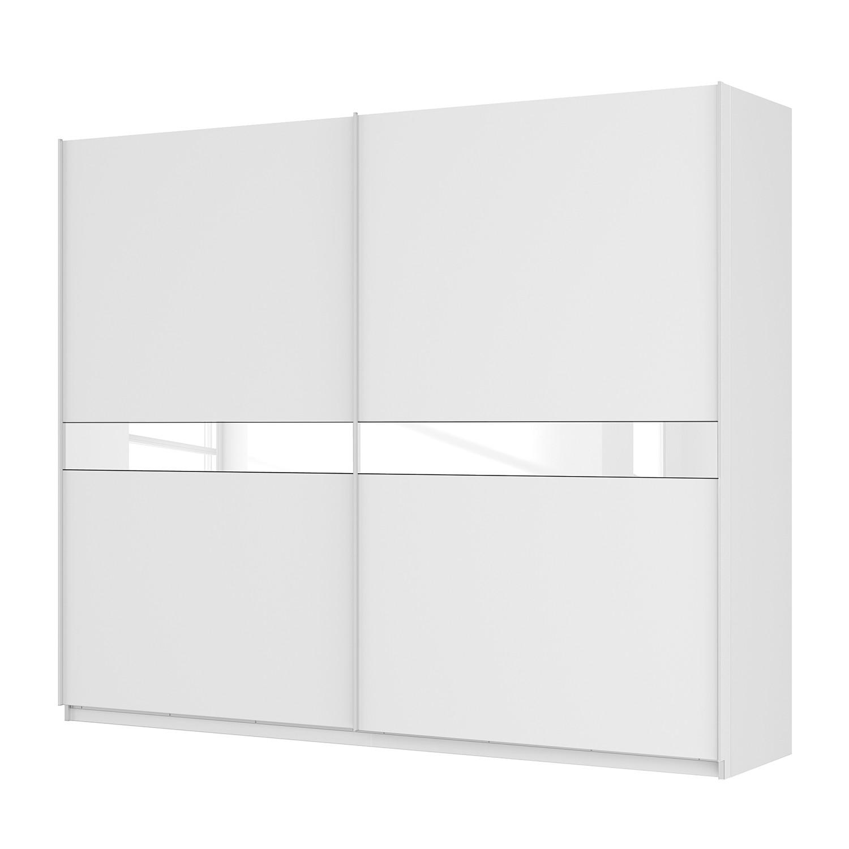 Schwebetürenschrank SKØP – Alpinweiß / Mattglas Weiß / Glas Weiß – 270 cm (2-türig) – 222 cm – Premium, SKØP günstig kaufen