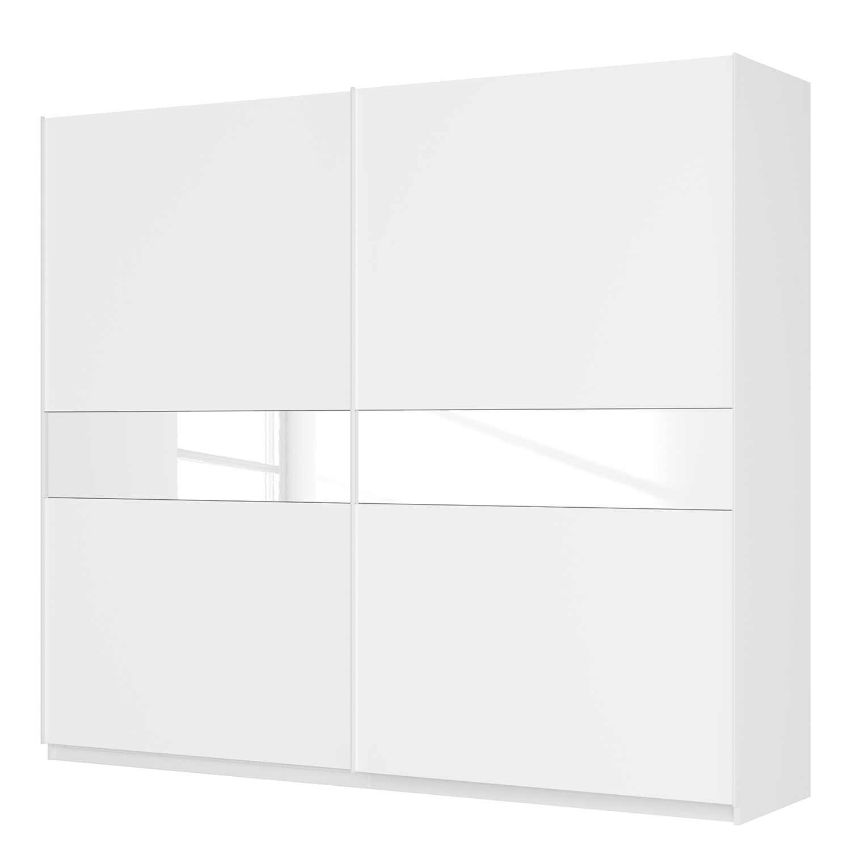 Schwebetürenschrank SKØP – Alpinweiß / Mattglas Weiß / Glas Weiß – 270 cm (2-türig) – 236 cm – Premium, SKØP bestellen