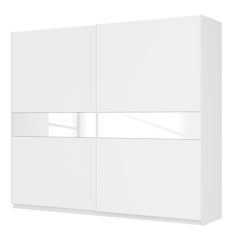 Schwebetürenschrank SKØP - Alpinweiß / Mattglas Weiß / Glas Weiß - 270 cm (2-türig) - 236 cm - Comfort, SKØP