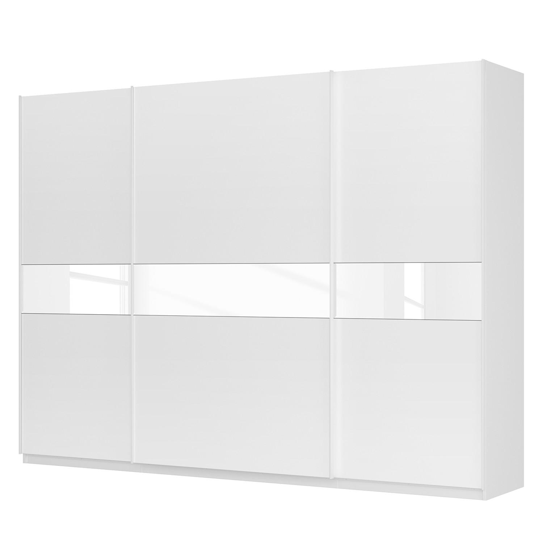 Schwebetürenschrank SKØP – Alpinweiß / Mattglas Weiß / Glas Weiß – 315 cm (3-türig) – 236 cm – Premium, SKØP jetzt bestellen