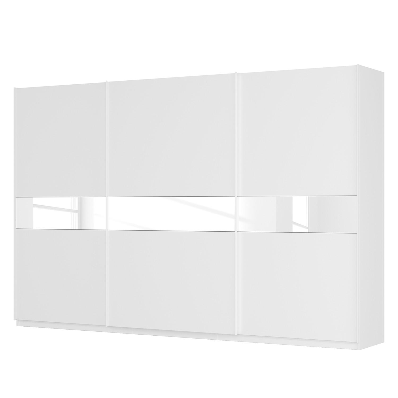 Schwebetürenschrank SKØP – Alpinweiß / Mattglas Weiß / Glas Weiß – 360 cm (3-türig) – 236 cm – Basic, SKØP jetzt bestellen