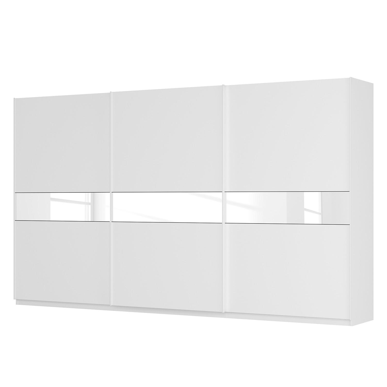Schwebetürenschrank SKØP – Alpinweiß / Mattglas Weiß / Glas Weiß – 405 cm (3-türig) – 236 cm – Premium, SKØP günstig kaufen