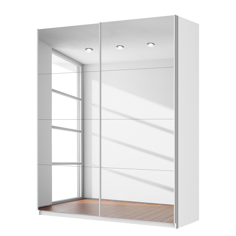 Schwebetürenschrank SKØP – Alpinweiß / Spiegelglas – 181 cm (2-türig) – 222 cm – Premium, SKØP günstig kaufen