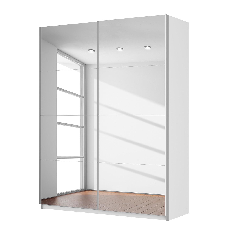 Schwebetürenschrank SKØP – Alpinweiß / Spiegelglas – 181 cm (2-türig) – 236 cm – Comfort, SKØP günstig bestellen