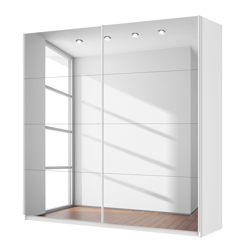Schwebetürenschrank SKØP – Alpinweiß / Spiegelglas – 225 cm (2-türig) – 222 cm – Classic, SKØP jetzt kaufen