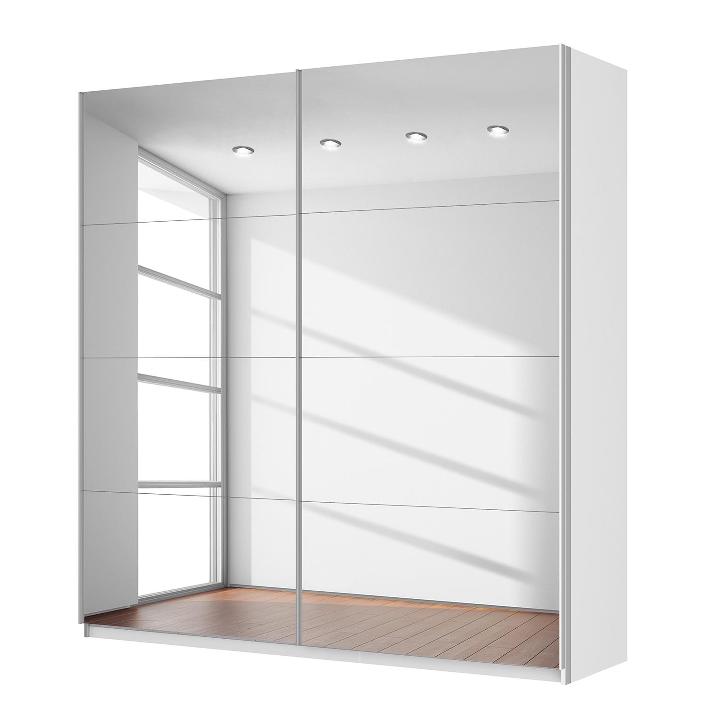 Schwebetürenschrank SKØP – Alpinweiß / Spiegelglas – 225 cm (2-türig) – 236 cm – Classic, SKØP kaufen