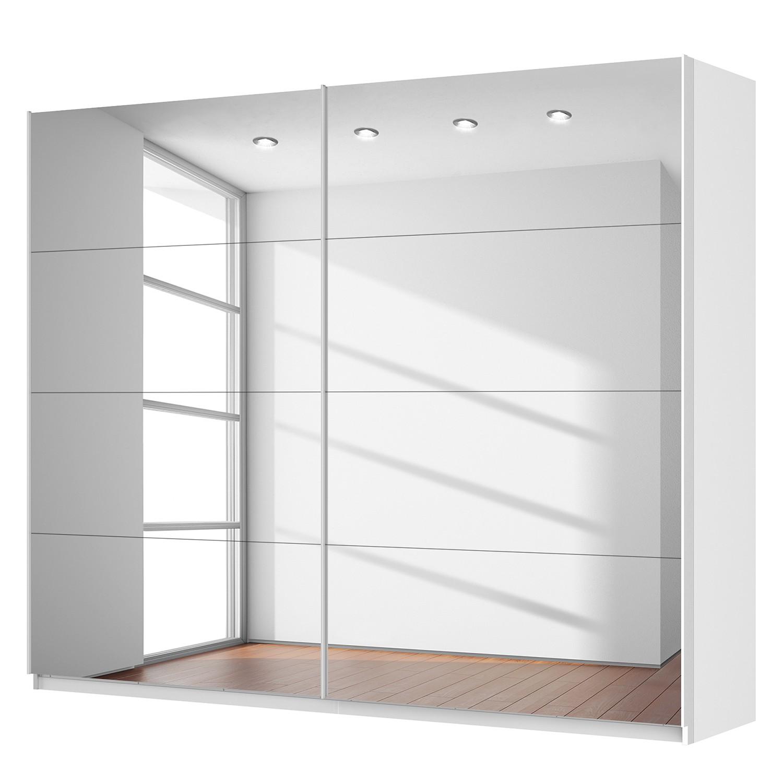 Schwebetürenschrank SKØP – Alpinweiß / Spiegelglas – 270 cm (2-türig) – 222 cm – Basic, SKØP günstig