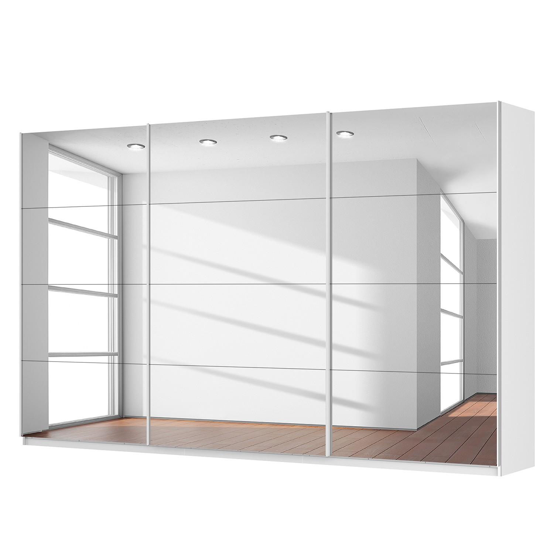 Schwebetürenschrank SKØP - Alpinweiß / Spiegelglas - 360 cm (3-türig) - 222 cm - Comfort, SKØP