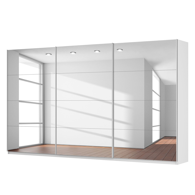 Schwebetürenschrank SKØP - Alpinweiß / Spiegelglas - 405 cm (3-türig) - 236 cm - Classic, SKØP