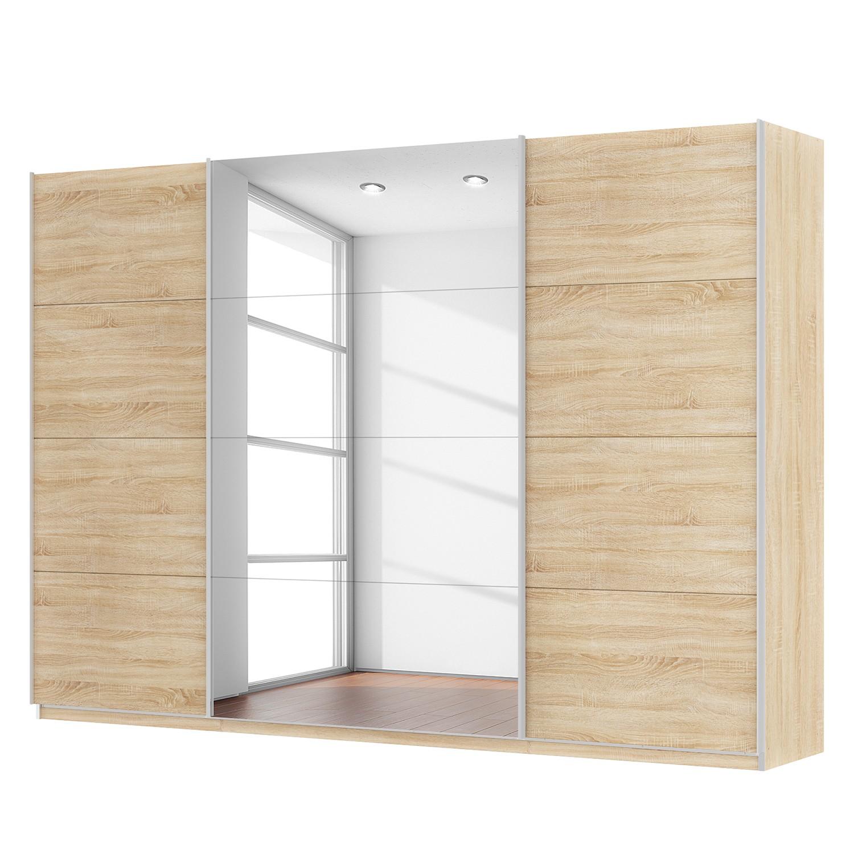 Schwebetürenschrank SKØP - Eiche Sonoma Dekor / Spiegelglas - 315 cm (3-türig) - 222 cm - Comfort, SKØP