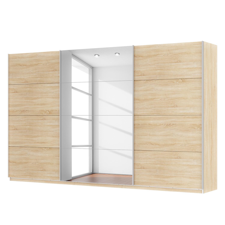 Schwebetürenschrank SKØP - Eiche Sonoma Dekor / Spiegelglas - 360 cm (3-türig) - 222 cm - Classic, SKØP
