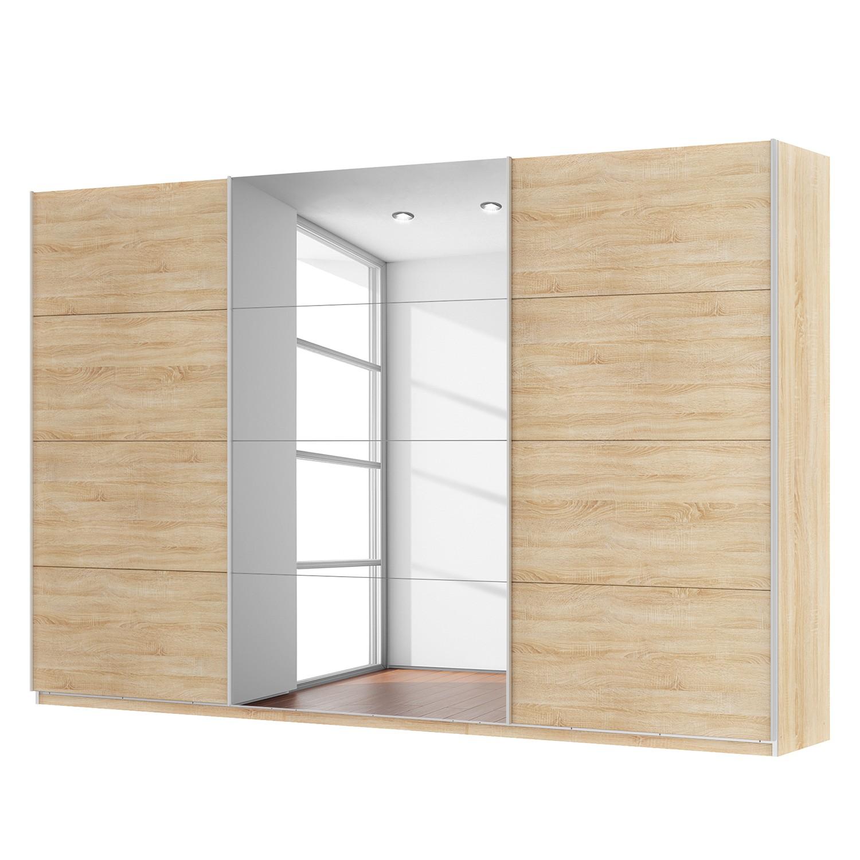Schwebetürenschrank SKØP - Eiche Sonoma Dekor / Spiegelglas - 360 cm (3-türig) - 236 cm - Comfort, SKØP