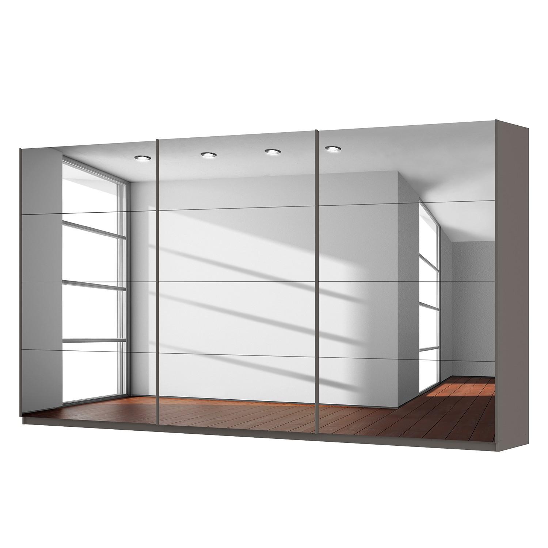 Schwebetürenschrank SKØP - Graphit / Grauspiegel - 405 cm (3-türig) - 222 cm - Classic, SKØP