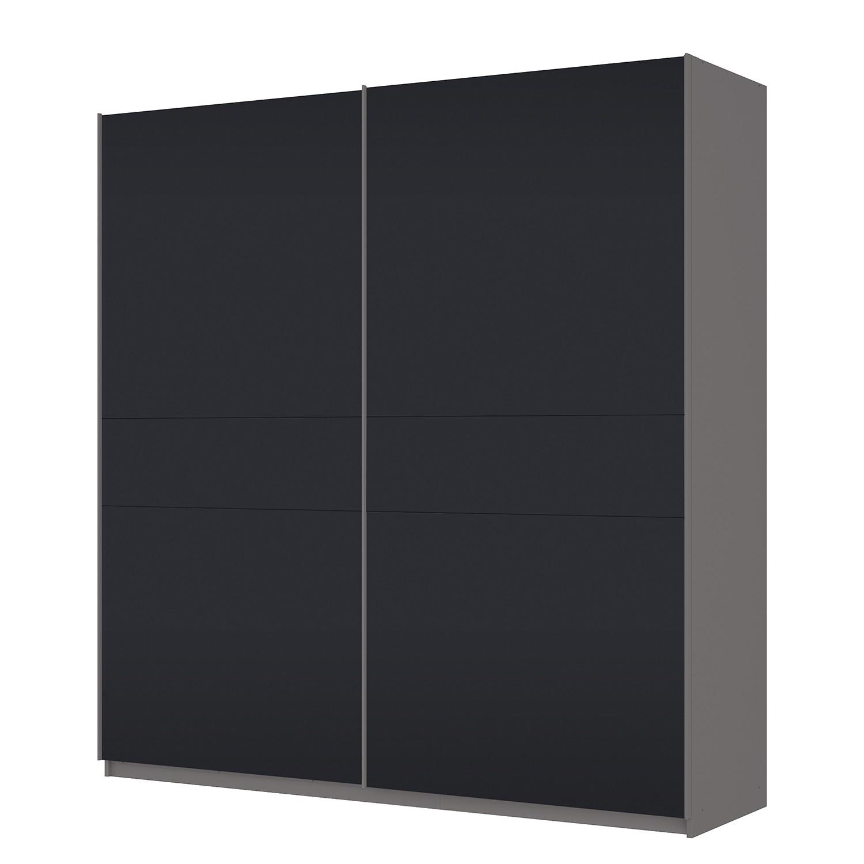 Schwebetürenschrank SKØP – Graphit / Mattglas Schwarz – 225 cm (2-türig) – 236 cm – Premium, SKØP günstig