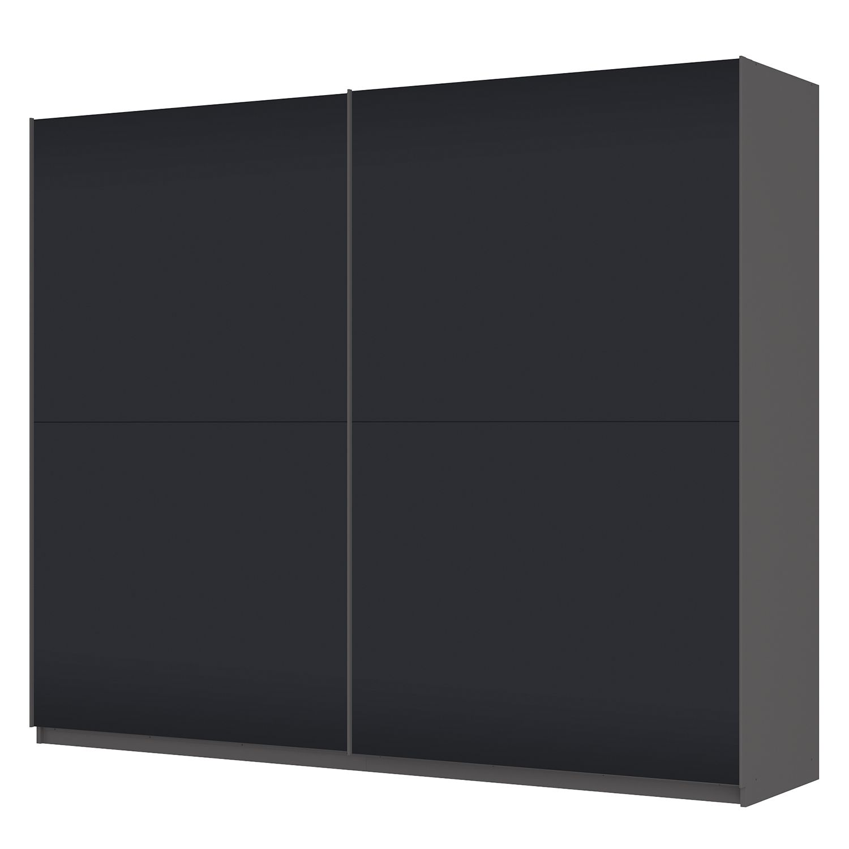 Schwebetürenschrank SKØP – Graphit / Mattglas Schwarz – 270 cm (2-türig) – 222 cm – Premium, SKØP online bestellen