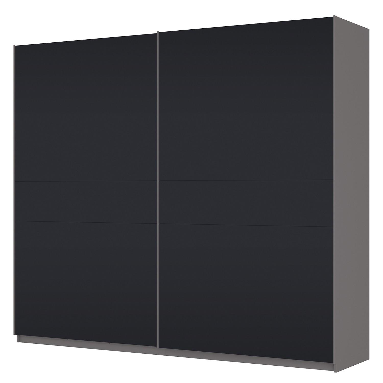 Zweefdeurkast Skøp - grafietkleurig/zwart mat glas - 270cm (2-deurs) - 236cm - Basic, SKØP