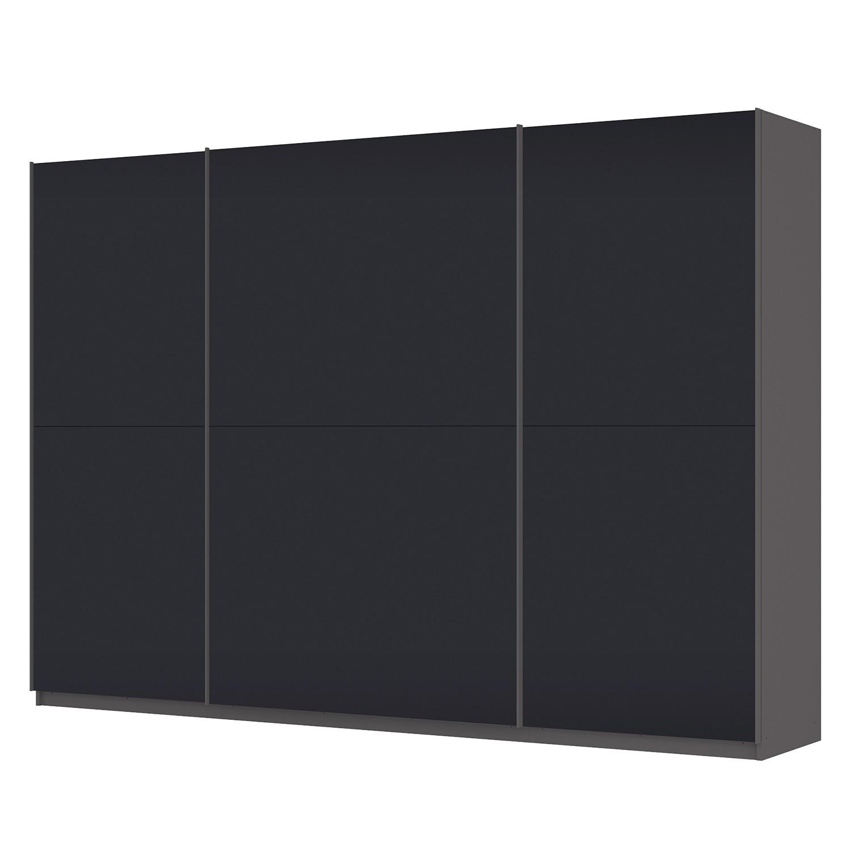 Schwebetürenschrank SKØP – Graphit / Mattglas Schwarz – 315 cm (3-türig) – 222 cm – Premium, SKØP günstig