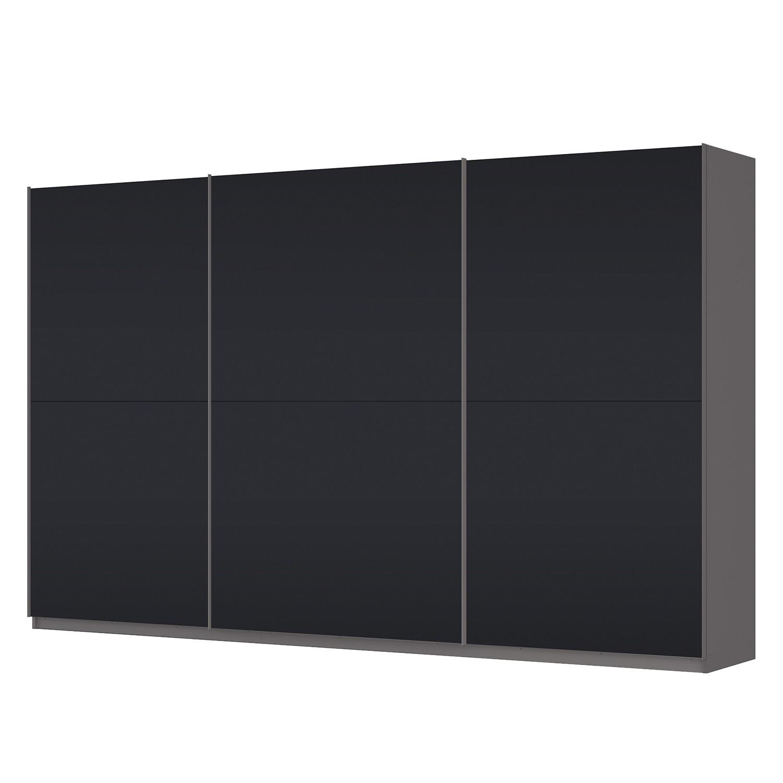 Schwebetürenschrank SKØP – Graphit / Mattglas Schwarz – 360 cm (3-türig) – 222 cm – Premium, SKØP günstig kaufen