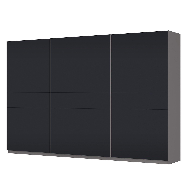 Schwebetürenschrank SKØP – Graphit / Mattglas Schwarz – 360 cm (3-türig) – 236 cm – Basic, SKØP günstig kaufen