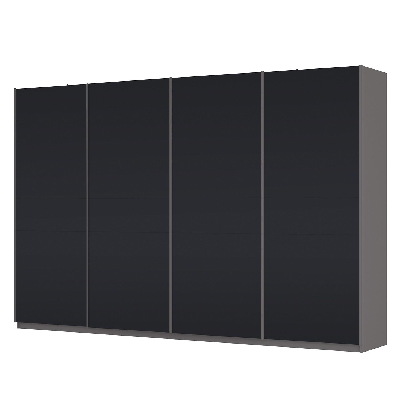 Schwebetürenschrank SKØP – Graphit / Mattglas Schwarz – 360 cm (4-türig) – 236 cm – Basic, SKØP günstig online kaufen