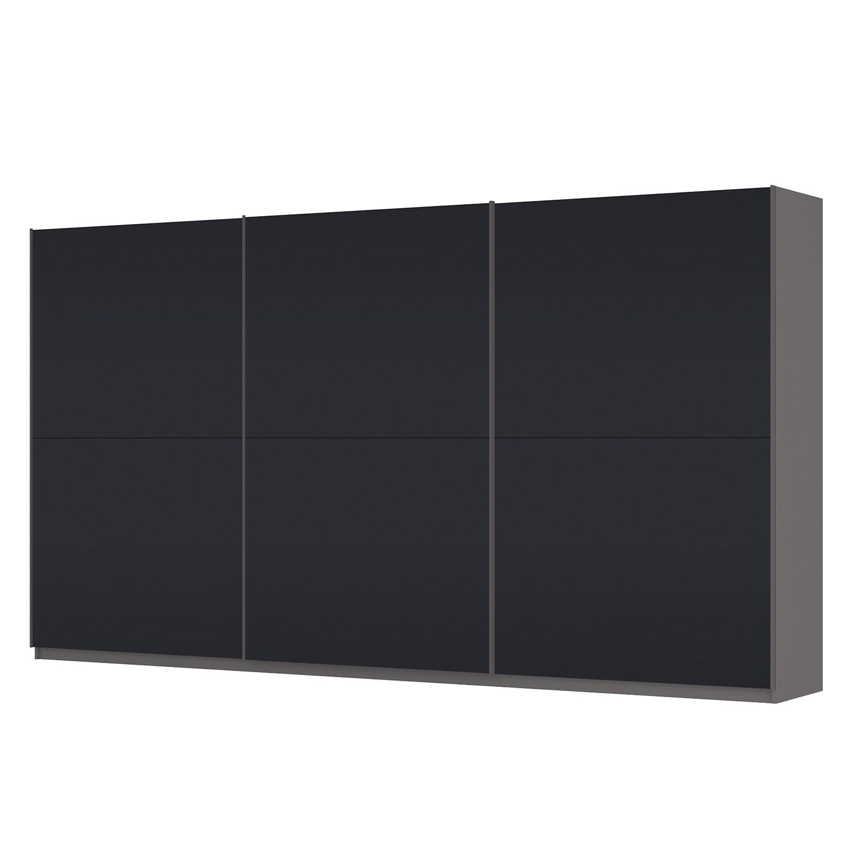 Schwebetürenschrank SKØP – Graphit / Mattglas Schwarz – 405 cm (3-türig) – 222 cm – Basic, SKØP online bestellen