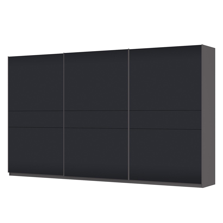 Schwebetürenschrank SKØP – Graphit / Mattglas Schwarz – 405 cm (3-türig) – 236 cm – Premium, SKØP günstig bestellen