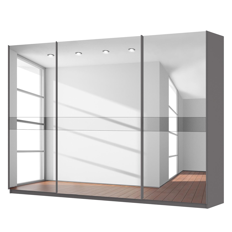 Schwebetürenschrank SKØP – Graphit / Spiegelglas / Grauspiegel – 315 cm (3-türig) – 222 cm – Comfort, SKØP günstig